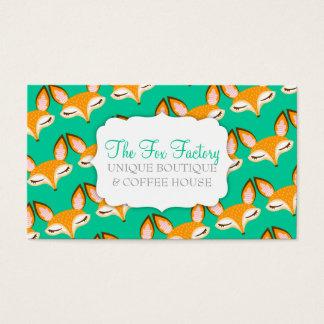 Tarjeta De Visita Lil Foxie - personalizado femenino lindo Bizcards