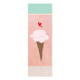 Tarjeta de visita linda de cono de helado