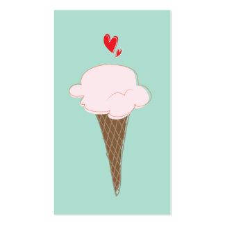 Tarjeta de visita linda del cono de helado
