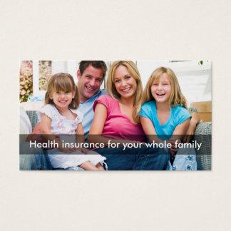 Tarjeta De Visita Línea multi representante del seguro médico