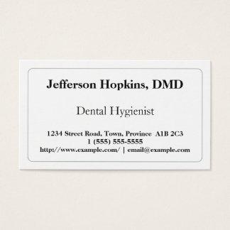 Tarjeta de visita llana del higienista dental