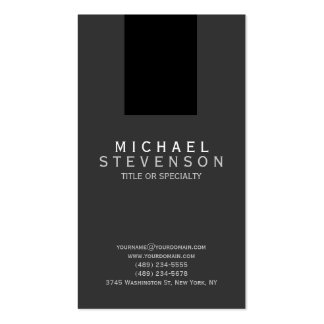 Tarjeta de visita llana simple gris negra moderna