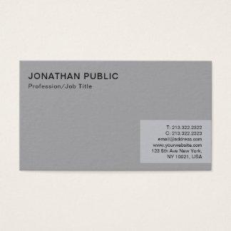 Tarjeta De Visita Llano gris elegante moderno minimalista