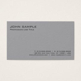 Tarjeta De Visita Llano minimalista profesional gris elegante