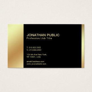 Tarjeta De Visita Llano profesional del oro negro elegante moderno