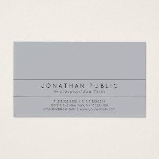 Tarjeta De Visita Llano simple gris elegante moderno profesional
