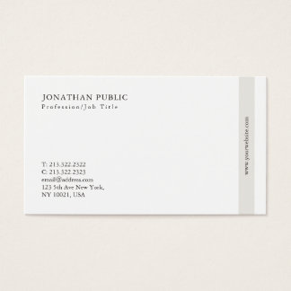 Tarjeta De Visita Llano simple moderno elegante profesional