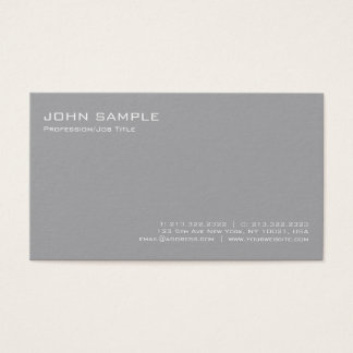 Tarjeta De Visita Llano simple profesional gris elegante moderno