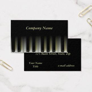 Tarjeta De Visita Llaves del piano