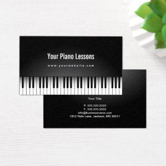 Tarjeta De Visita Llaves realistas del piano del profesor de música