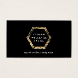 Tarjeta De Visita Logotipo de oro del salón de bronceado del aerosol