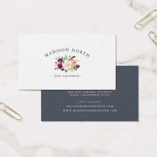 Tarjeta De Visita Logotipo floral de la floración el | del otoño