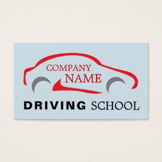 Tarjeta De Visita Logotipo rojo del coche, instructor de conducción