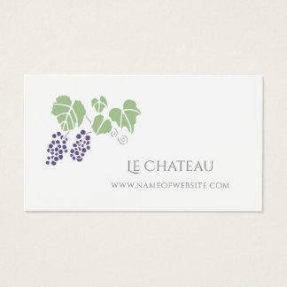 Tarjeta De Visita Logotipo simple y elegante de la fruta de la vid