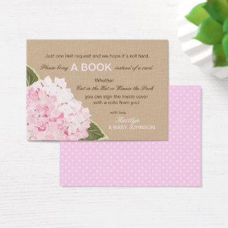 Tarjeta De Visita Los Hydrangeas rosados rústicos leyeron una