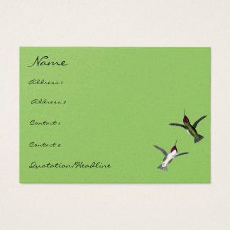 Tarjeta De Visita Los pájaros del tarareo del vintage eligen colores