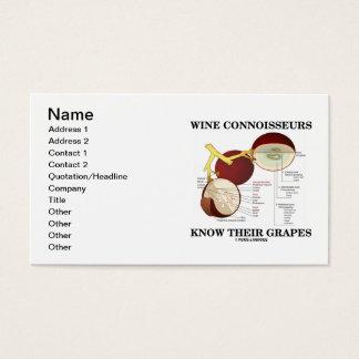 Tarjeta De Visita Los peritos del vino saben sus uvas (la anatomía)