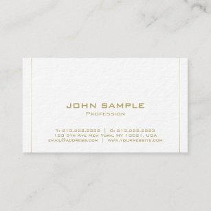 Tarjeta De Visita Lujo superior llano elegante minimalista moderno