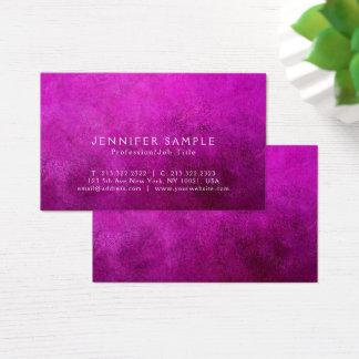 Tarjeta De Visita Lujo superior moderno púrpura elegante del final