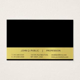 Tarjeta De Visita Lustre negro profesional simple moderno del oro