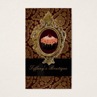 Tarjeta De Visita magdalena elegante del panadero de la panadería