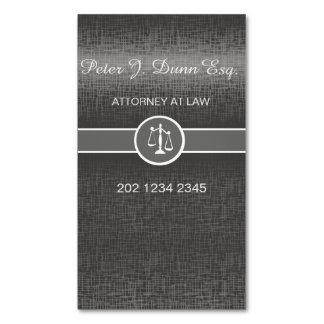 Tarjeta De Visita Magnética Abogado profesional metálico de plata del abogado
