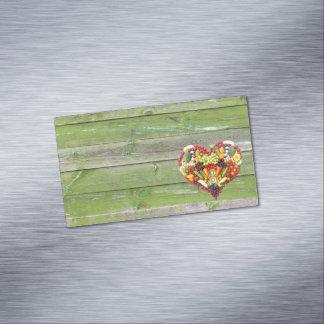 Tarjeta De Visita Magnética Amor del vegano mi corazón