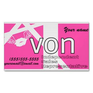 Tarjeta De Visita Magnética Avon rosado personalizado