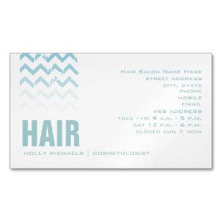 Tarjeta de visita magnética azul del salón de pelo tarjetas de visita magnéticas (paquete de 25)