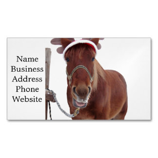 Tarjeta De Visita Magnética Ciervos del caballo - caballo del navidad -