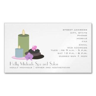 Tarjeta de visita magnética del salón/del tarjetas de visita magnéticas (paquete de 25)