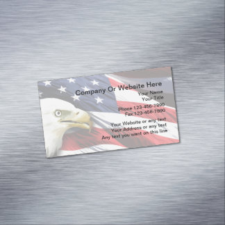 Tarjeta De Visita Magnética Diseño americano patriótico