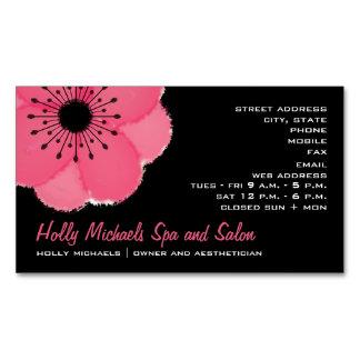 Tarjeta de visita magnética floral de las rosas tarjetas de visita magnéticas (paquete de 25)