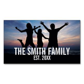 Tarjeta De Visita Magnética Foto de familia personalizada con apellido