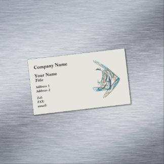 Tarjeta De Visita Magnética Fractal - Angelfish