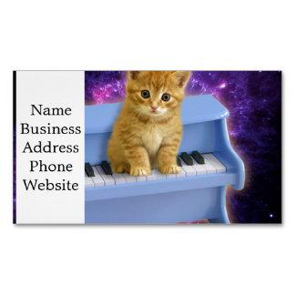 Tarjeta De Visita Magnética Gato del piano