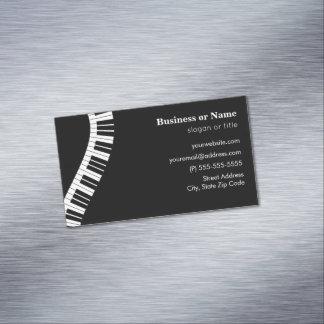 Tarjeta De Visita Magnética Llaves curvadas onduladas del piano