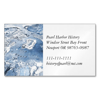 Tarjeta De Visita Magnética Pearl Harbor de arriba en dirección Sur de la