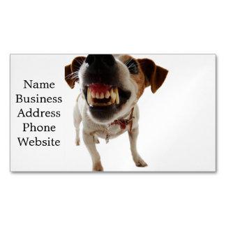 Tarjeta De Visita Magnética Perro agresivo - perro enojado - perro divertido