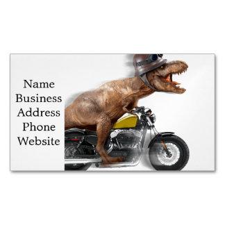Tarjeta De Visita Magnética Rex del motocicleta-tyrannosaurus-t del rex de T -