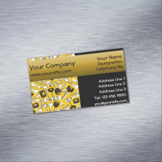 Tarjeta De Visita Magnética Sistema de fondo amarillo de Seamelss del fondo de