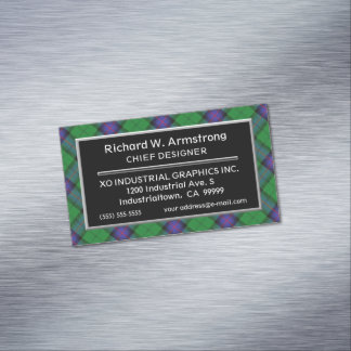Tarjeta De Visita Magnética Tartán escocés de Armstrong del clan del acento