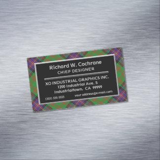 Tarjeta De Visita Magnética Tartán escocés de Cochrane del clan del acento