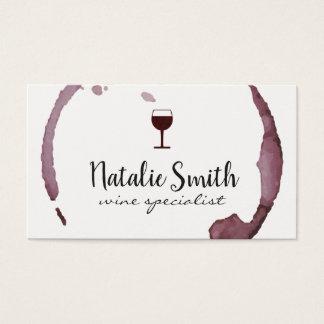 Tarjeta De Visita Mancha del vino (copa de vino)