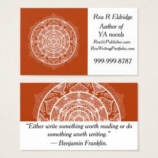 Tarjeta De Visita Mandala de la alheña