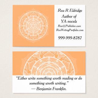 Tarjeta De Visita Mandala del melón