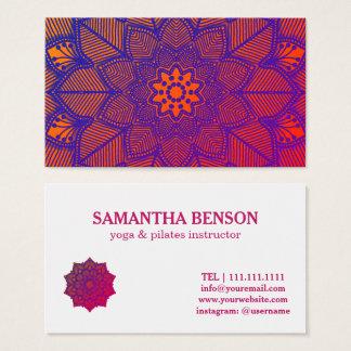 Tarjeta De Visita Mandala del profesor del instructor de la yoga de