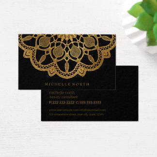 Tarjeta De Visita Mandala elegante ID353 del oro