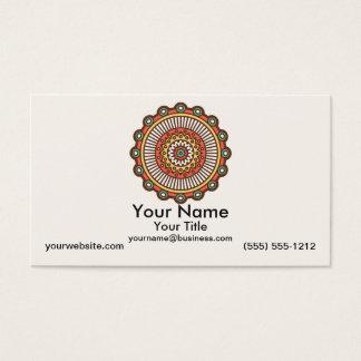 Tarjeta De Visita Mandala en la crema
