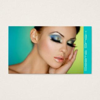 Tarjeta De Visita Maquillaje cerrado de los ojos